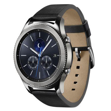 Ceas Smartwatch Samsung Gear S3, Classic, bratara clasica piele, IP68