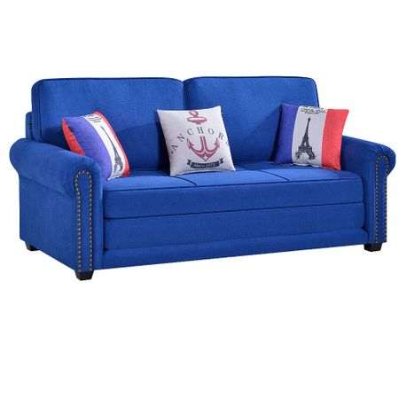 Canapea extensibila Kring Mondo material textil, 3 locuri, 150x87x99-150 cm, Albastru – Review complet