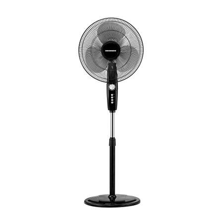 Ventilator cu picior Heinner HXSF-163BK, 55W, 40 cm diametru, temporizator, functie oscilare, 3 trepte de viteza, Negru