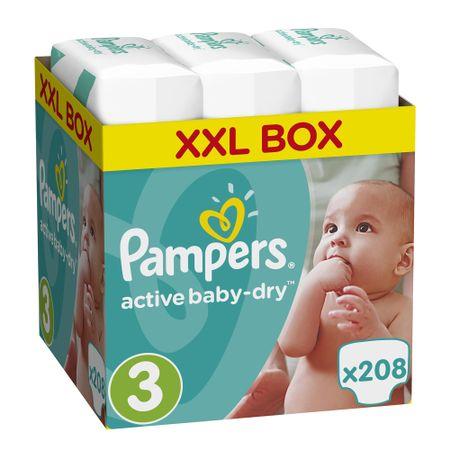 Scutece Pampers Active Baby XXL BOX 3 Midi, 5-9kg, 208 buc – Review si Recomandari