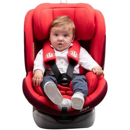 Scaun auto Allegra rotativ cu isofix 0-36 kg rosu KidsCare – Review complet
