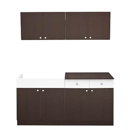 Set mobilier bucatarie economica Kring Karina, 160 cm, Wenge : Review & Pareri utile